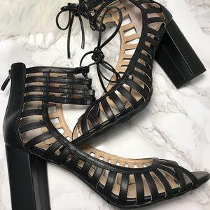 Franco Sarto Caged Heel with Peep-toe